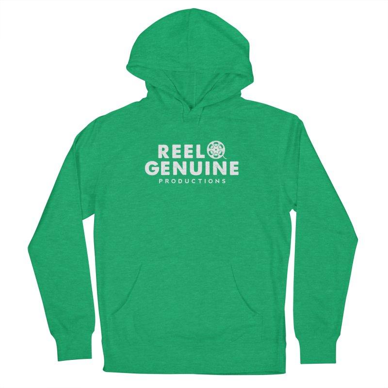 Reel Genuine Logo - White Men's Pullover Hoody by reelgenuine's Artist Shop