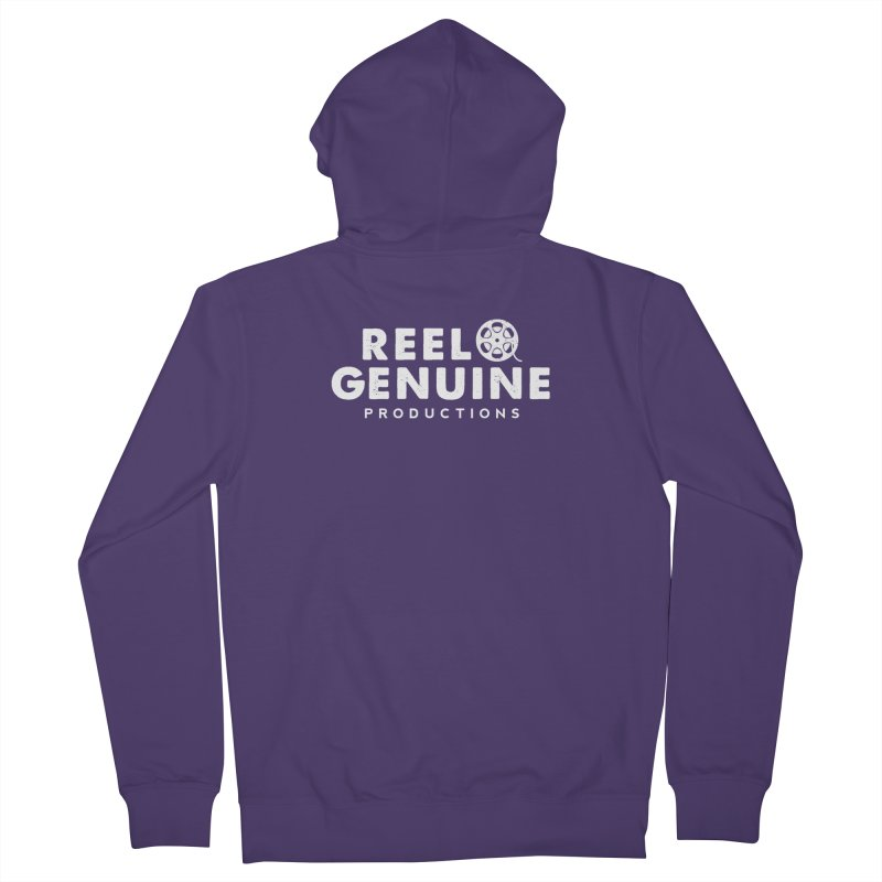 Reel Genuine Logo - White Women's French Terry Zip-Up Hoody by reelgenuine's Artist Shop