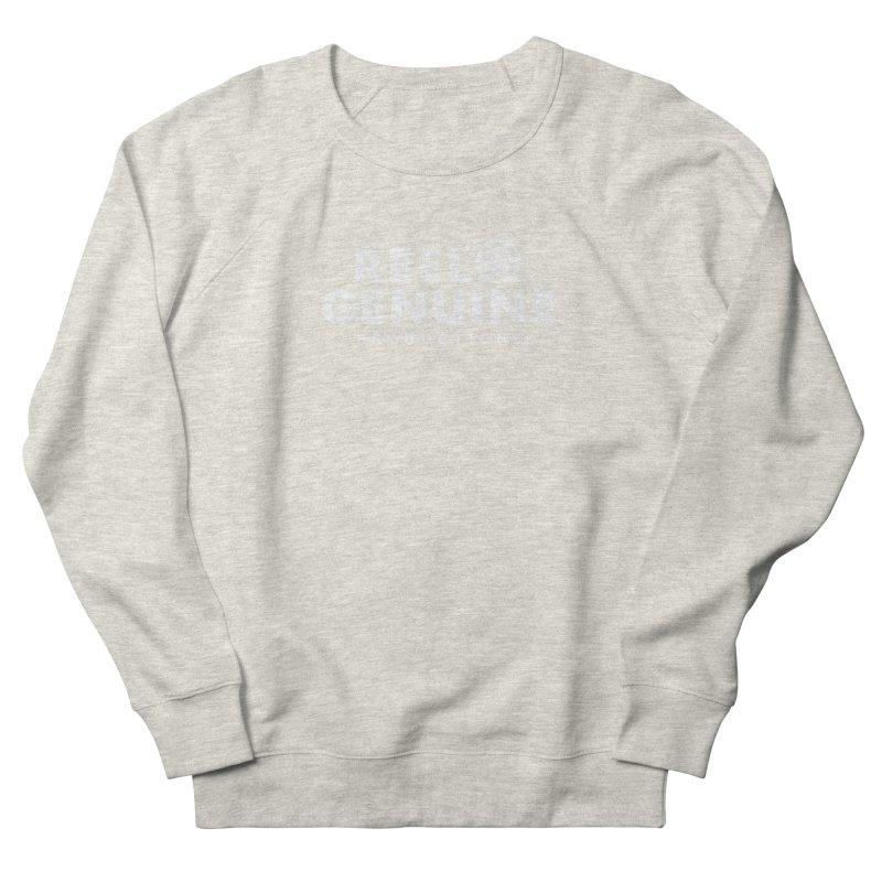 Reel Genuine Logo - White Men's French Terry Sweatshirt by reelgenuine's Artist Shop