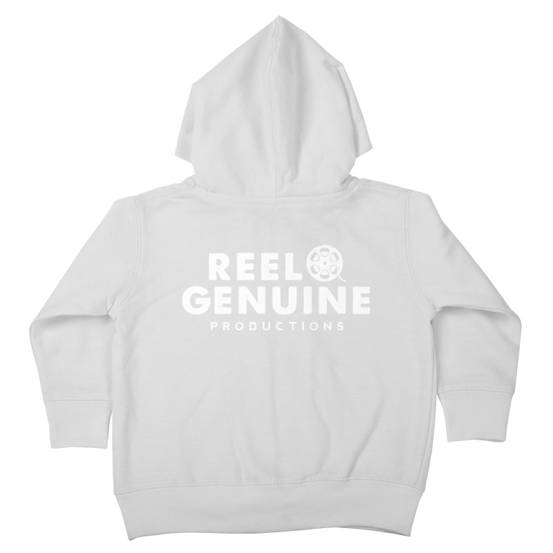Reel Genuine Logo - White Kids Toddler Zip-Up Hoody by reelgenuine's Artist Shop