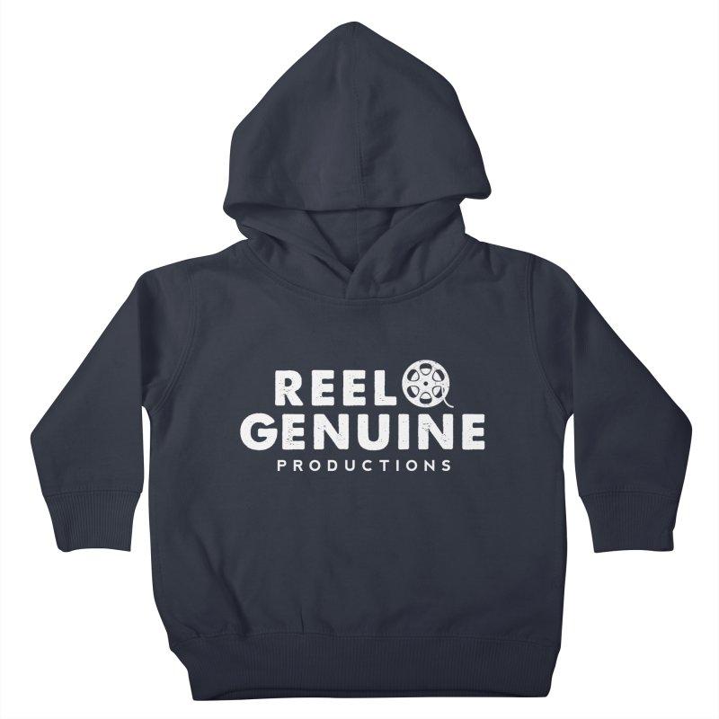 Reel Genuine Logo - White Kids Toddler Pullover Hoody by reelgenuine's Artist Shop