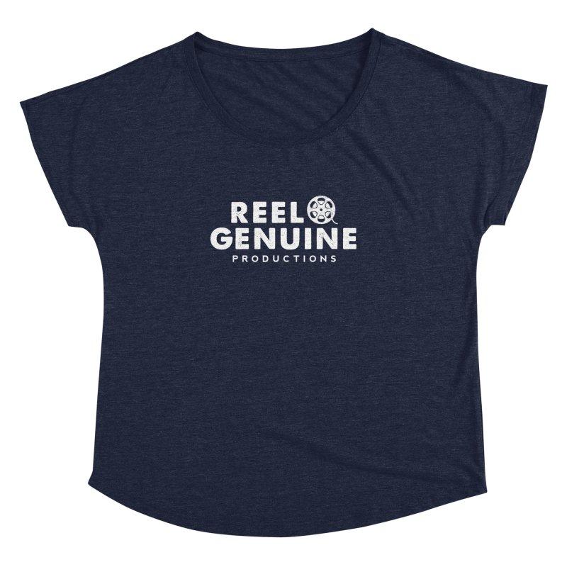 Reel Genuine Logo - White Women's Dolman Scoop Neck by reelgenuine's Artist Shop