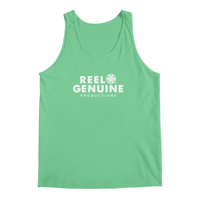 Reel Genuine Logo - White Men's Tank by reelgenuine's Artist Shop