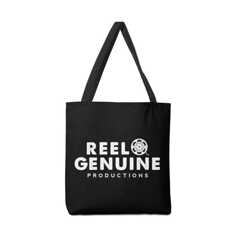 Reel Genuine Logo - White Accessories Bag by reelgenuine's Artist Shop