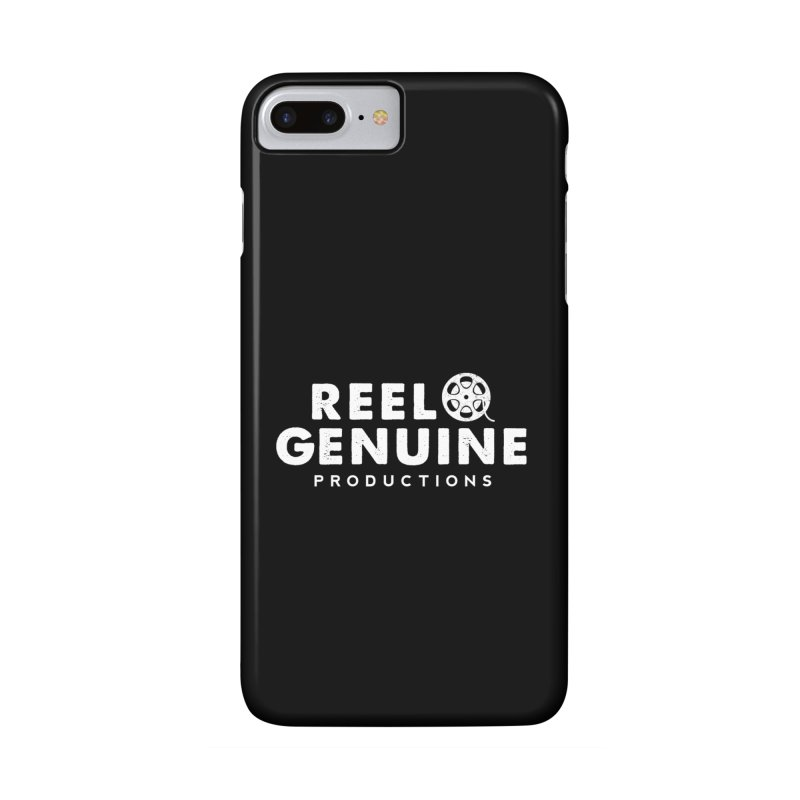 Reel Genuine Logo - White Accessories Phone Case by reelgenuine's Artist Shop
