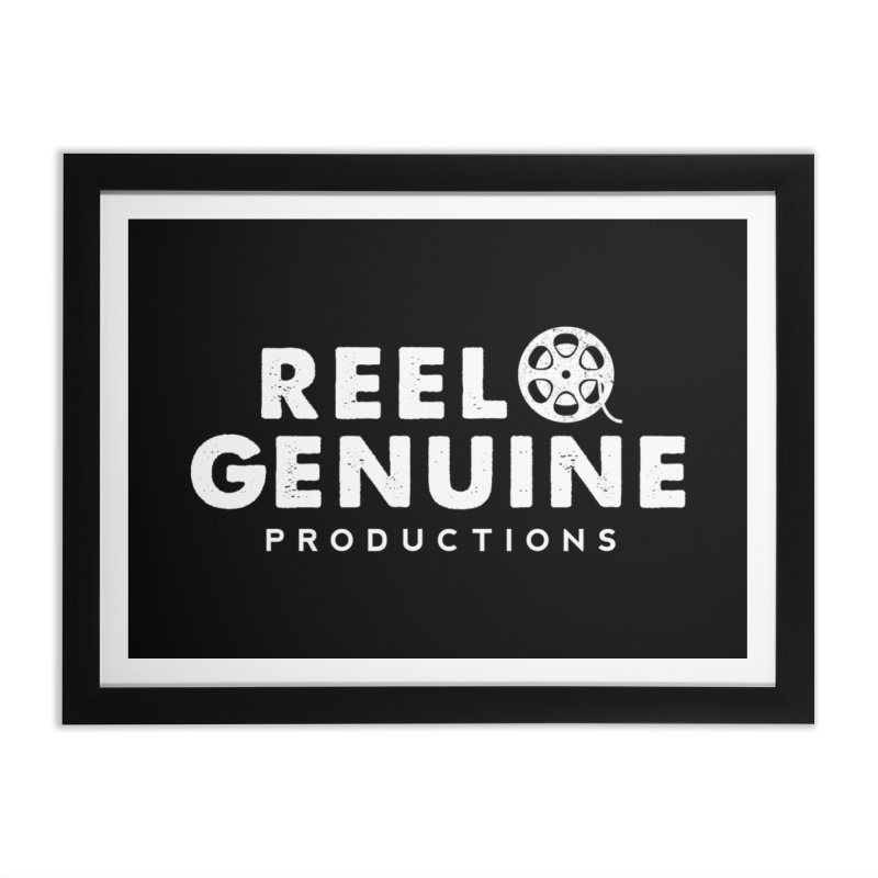 Reel Genuine Logo - White   by reelgenuine's Artist Shop