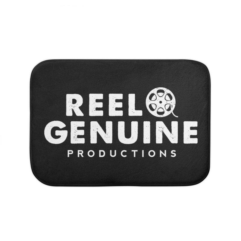 Reel Genuine Logo - White Home Bath Mat by reelgenuine's Artist Shop
