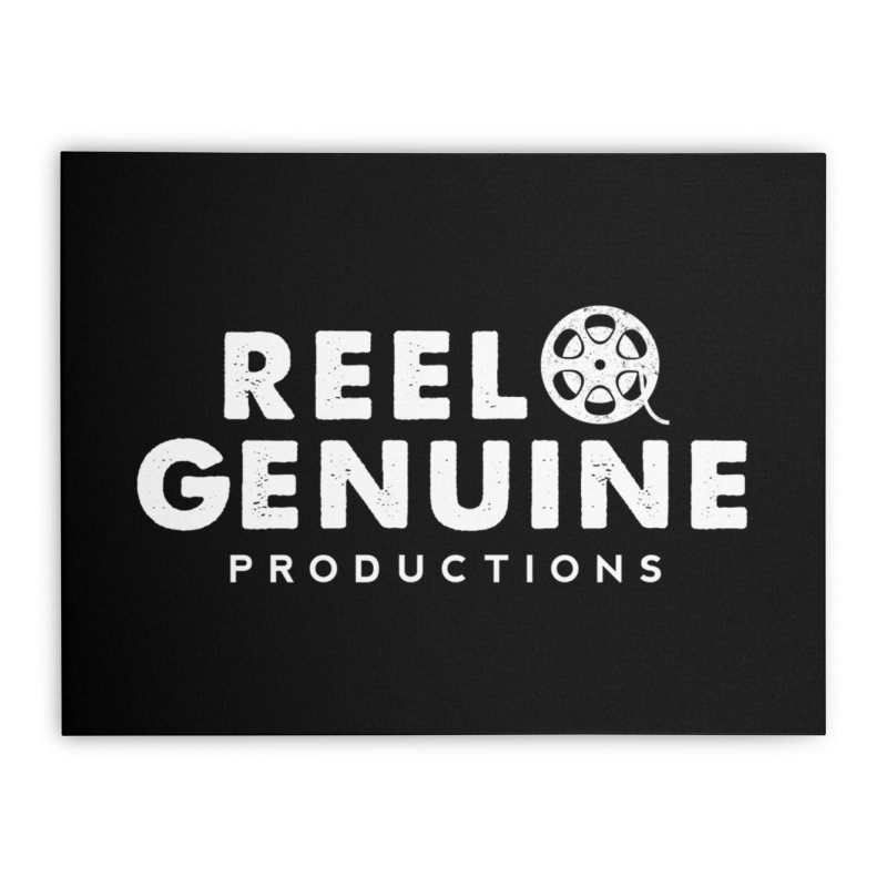 Reel Genuine Logo - White Home Stretched Canvas by reelgenuine's Artist Shop