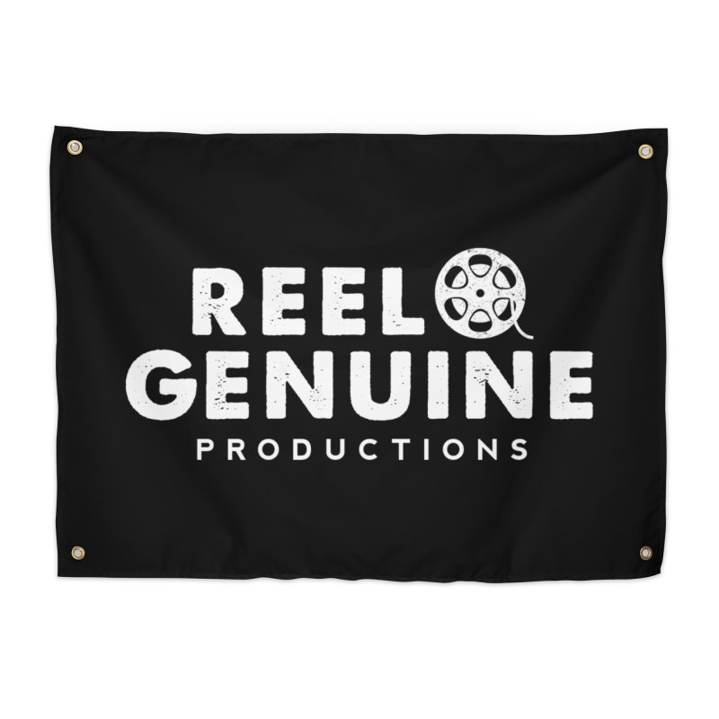 Reel Genuine Logo - White Home Tapestry by reelgenuine's Artist Shop