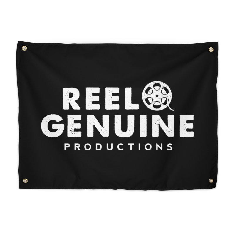 Reel Genuine Logo - White Home Tapestry by reelgenuine's Artist Shop