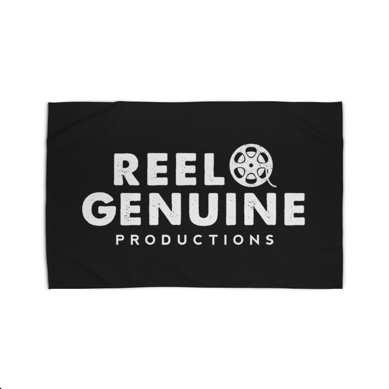 Reel Genuine Logo - White Home Rug by reelgenuine's Artist Shop