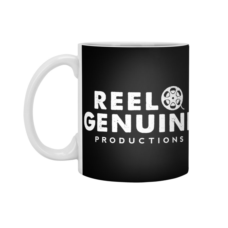 Reel Genuine Logo - White Accessories Mug by reelgenuine's Artist Shop