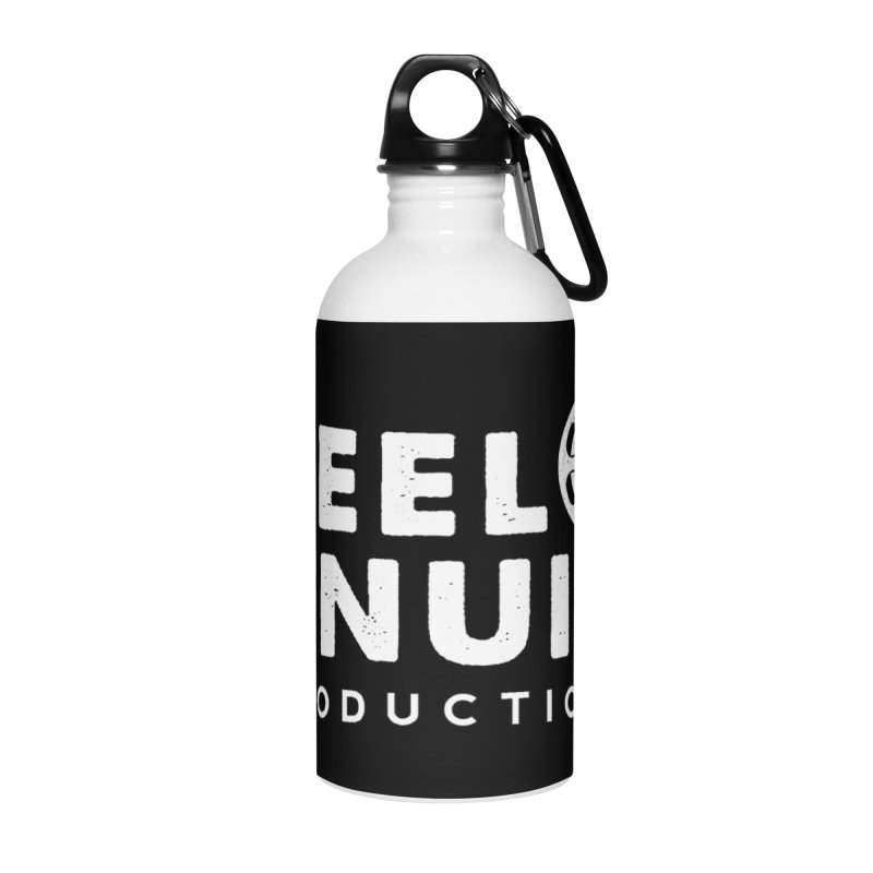 Reel Genuine Logo - White Accessories Water Bottle by reelgenuine's Artist Shop