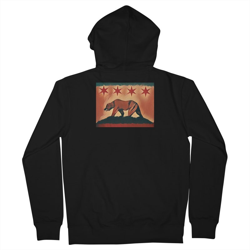 Windy City Golden State Women's French Terry Zip-Up Hoody by reelgenuine's Artist Shop