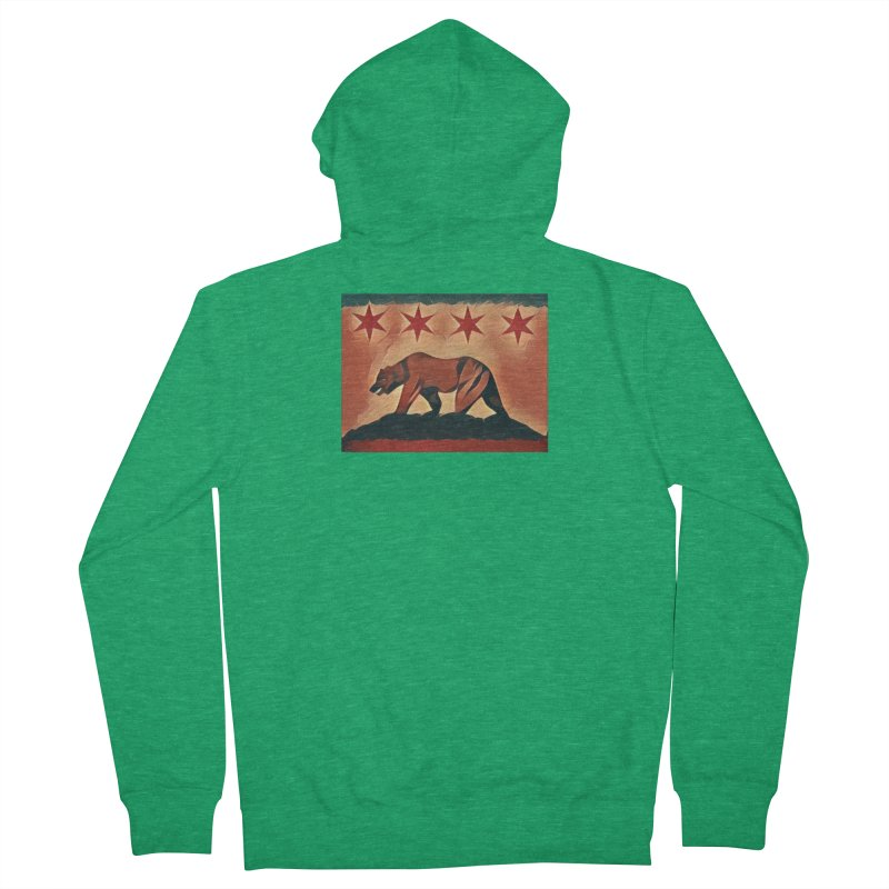 Windy City Golden State Men's French Terry Zip-Up Hoody by reelgenuine's Artist Shop