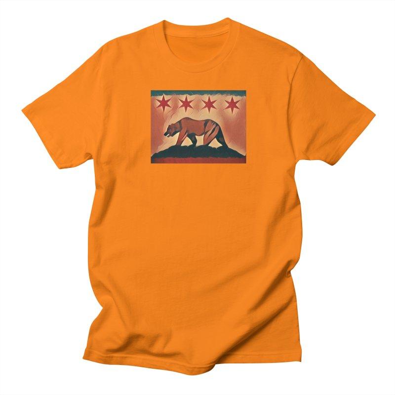 Windy City Golden State Men's Regular T-Shirt by reelgenuine's Artist Shop