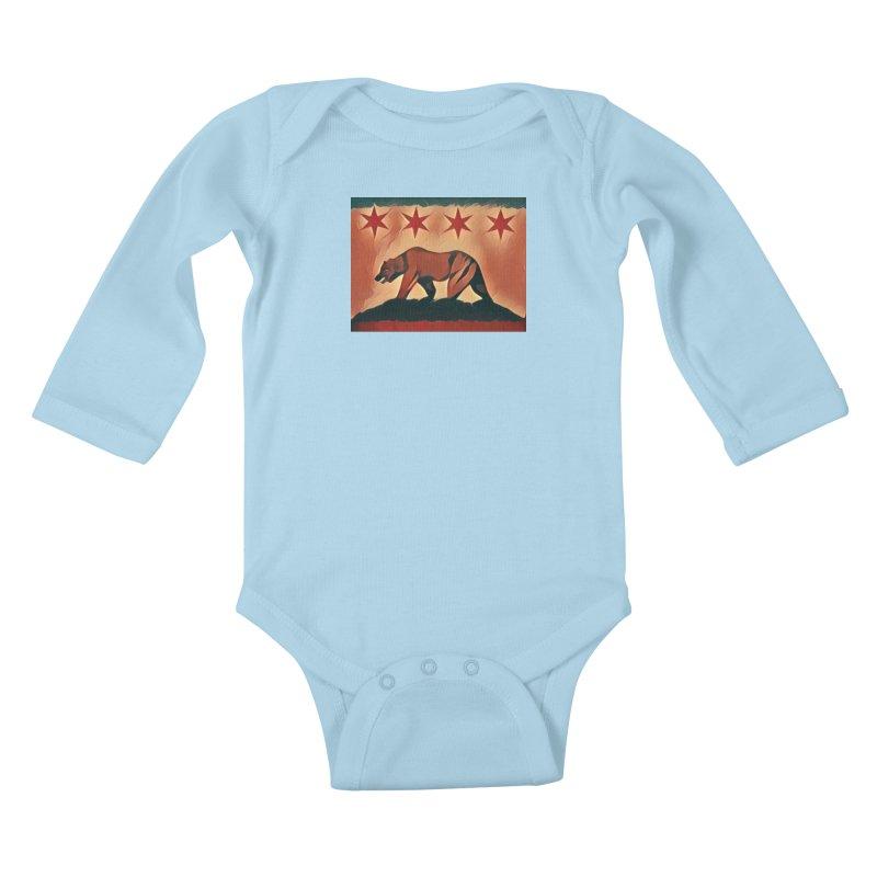 Windy City Golden State Kids Baby Longsleeve Bodysuit by reelgenuine's Artist Shop