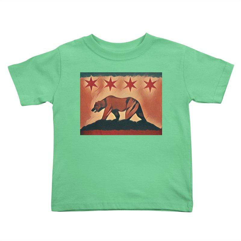 Windy City Golden State Kids Toddler T-Shirt by reelgenuine's Artist Shop