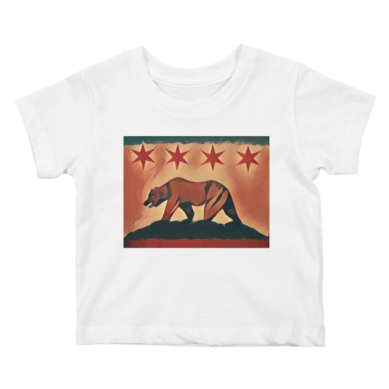 Windy City Golden State Kids Baby T-Shirt by reelgenuine's Artist Shop