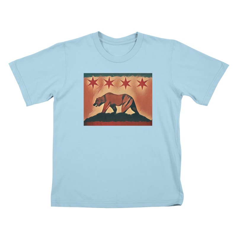 Windy City Golden State Kids T-Shirt by reelgenuine's Artist Shop
