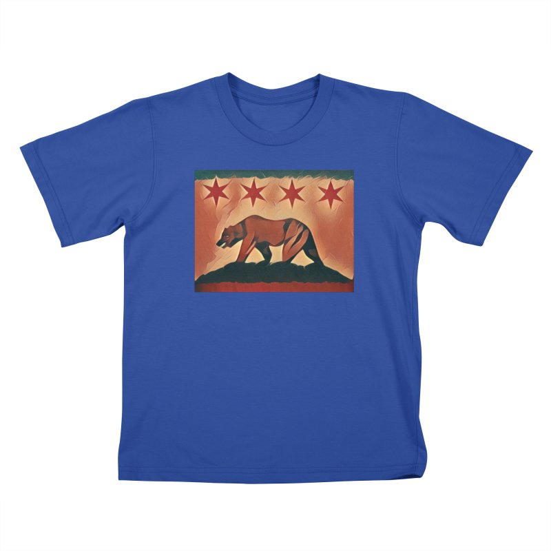Windy City Golden State Kids T-Shirt by reelgenuine's Artist Shop