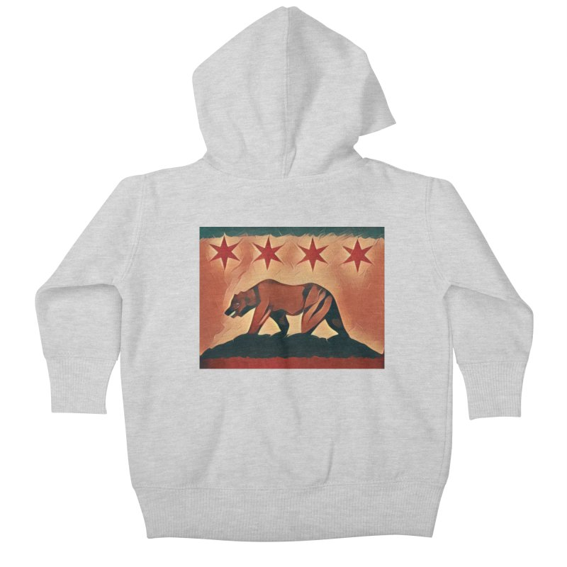 Windy City Golden State Kids Baby Zip-Up Hoody by reelgenuine's Artist Shop