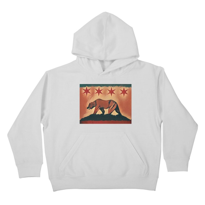 Windy City Golden State Kids Pullover Hoody by reelgenuine's Artist Shop