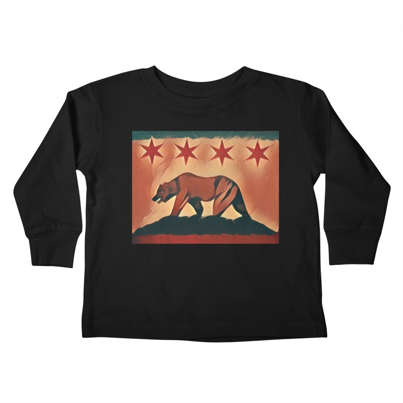 Windy City Golden State Kids Toddler Longsleeve T-Shirt by reelgenuine's Artist Shop