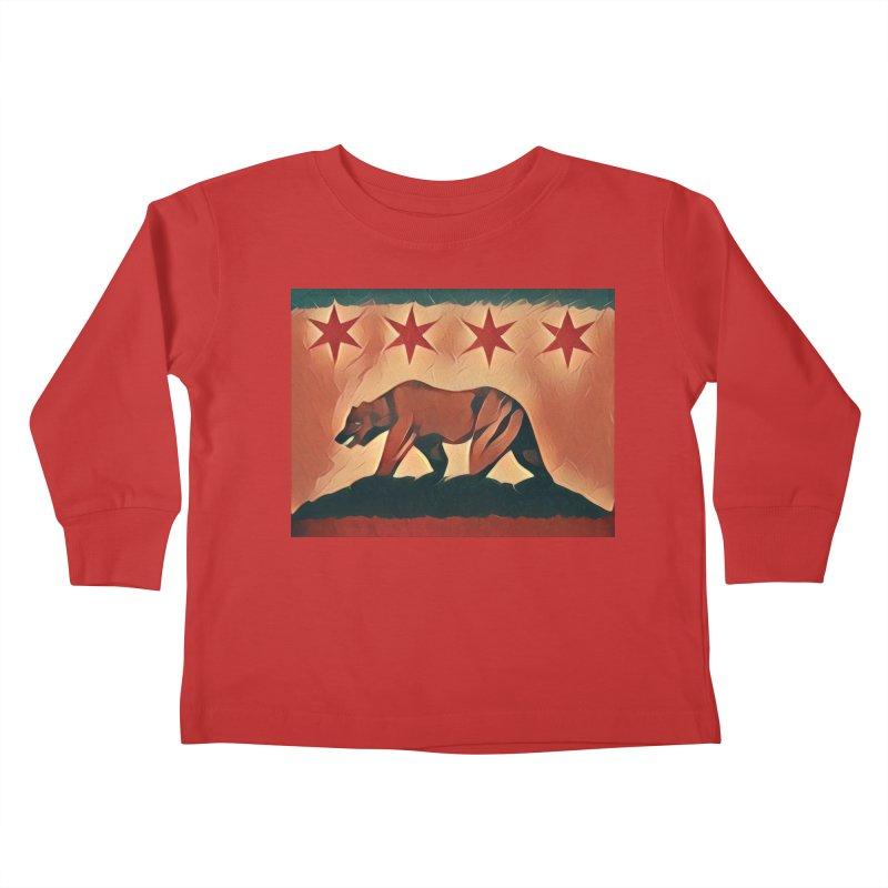 Windy City Golden State Kids Toddler Longsleeve T-Shirt by reelgenuine's Artist Shop