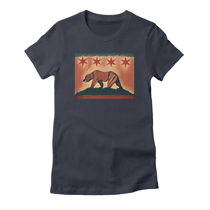 Windy City Golden State Women's Fitted T-Shirt by reelgenuine's Artist Shop