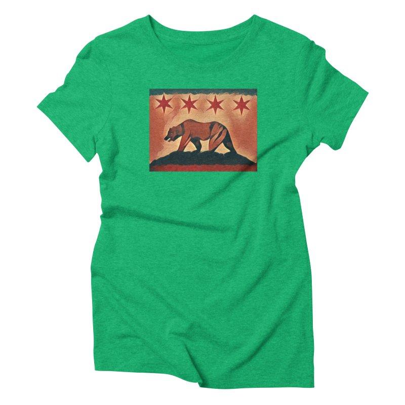 Windy City Golden State Women's Triblend T-shirt by reelgenuine's Artist Shop