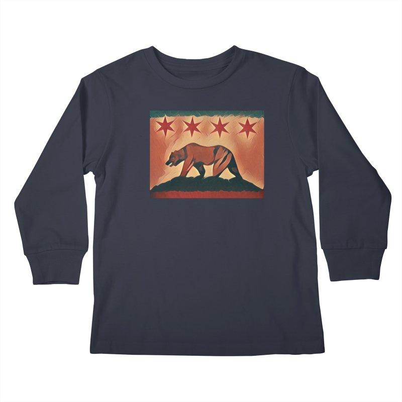 Windy City Golden State Kids Longsleeve T-Shirt by reelgenuine's Artist Shop