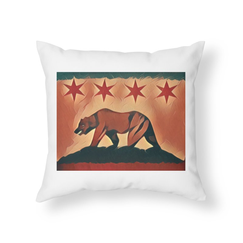 Windy City Golden State in Throw Pillow by reelgenuine's Artist Shop