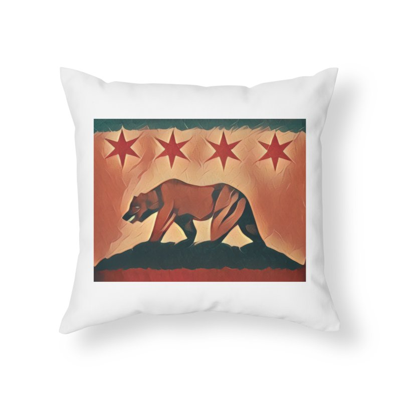 Windy City Golden State Home Throw Pillow by reelgenuine's Artist Shop