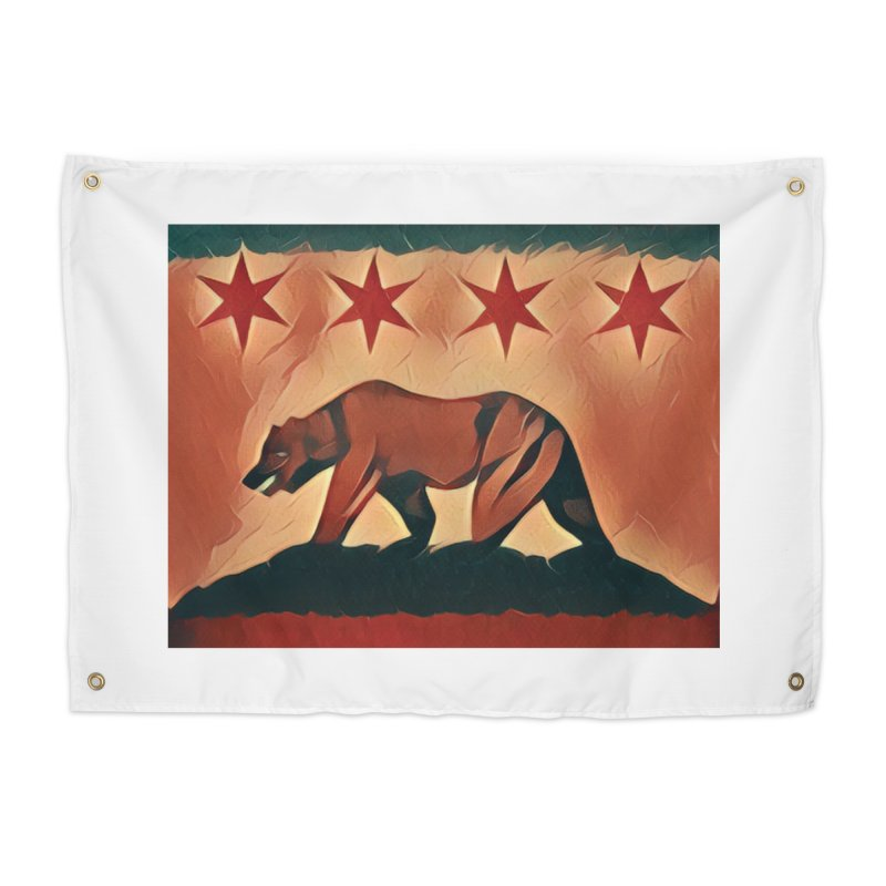 Windy City Golden State Home Tapestry by reelgenuine's Artist Shop