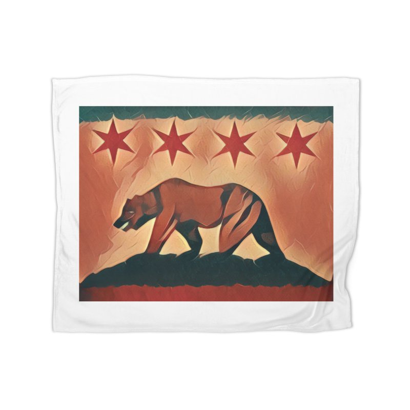 Windy City Golden State Home Fleece Blanket Blanket by reelgenuine's Artist Shop