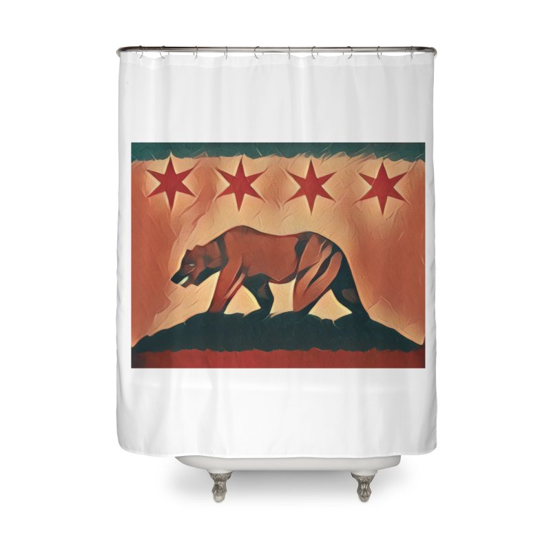 Windy City Golden State Home Shower Curtain by reelgenuine's Artist Shop