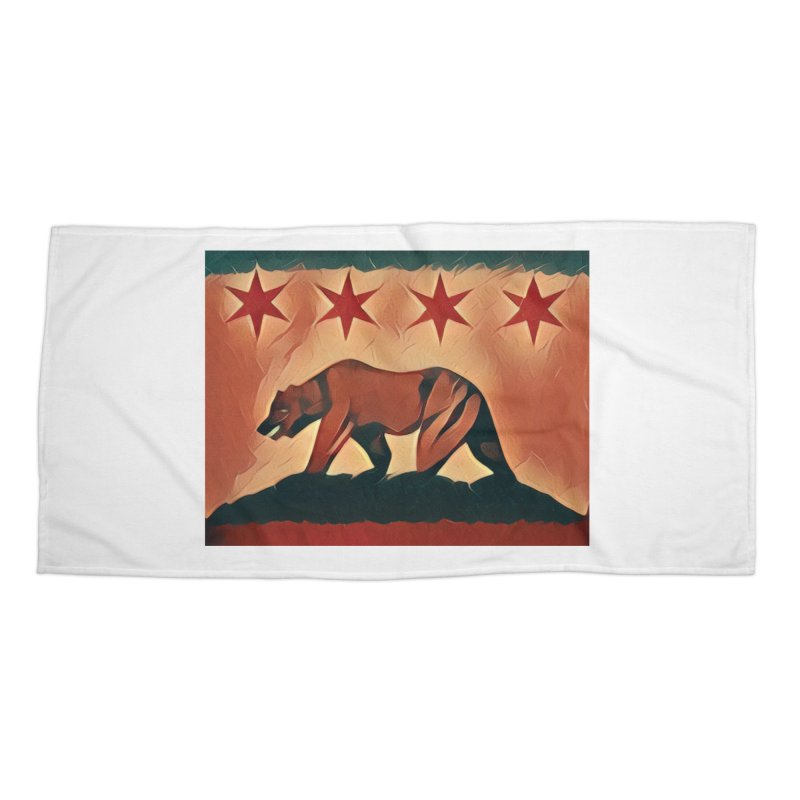 Windy City Golden State Accessories Beach Towel by reelgenuine's Artist Shop