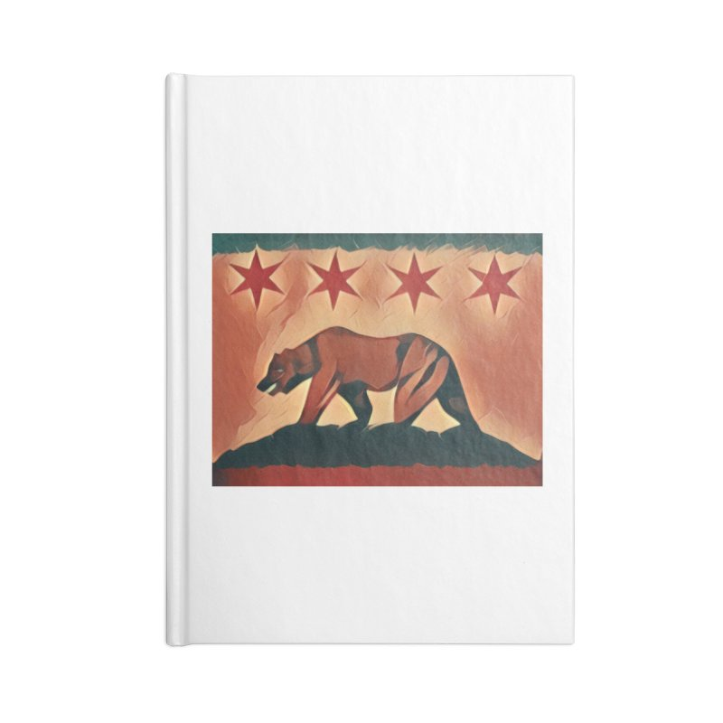 Windy City Golden State Accessories Lined Journal Notebook by reelgenuine's Artist Shop