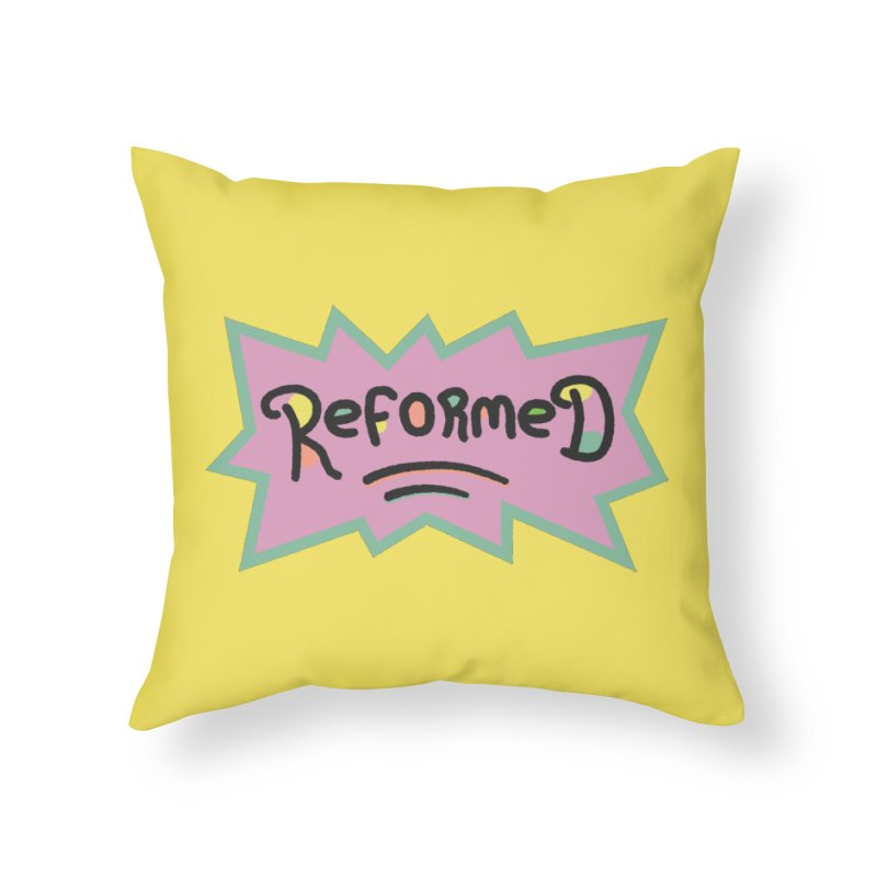 ReformedRats 1990 Home Throw Pillow by Reformed Christian Goods & Clothing