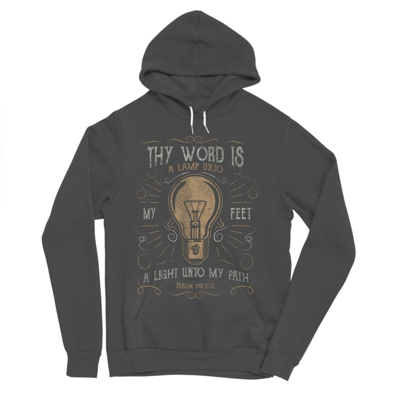 Psalm 119:105 Thy Word is a Lamp Unto My Feet Women's Sponge Fleece Pullover Hoody by A Worthy Manner Goods & Clothing