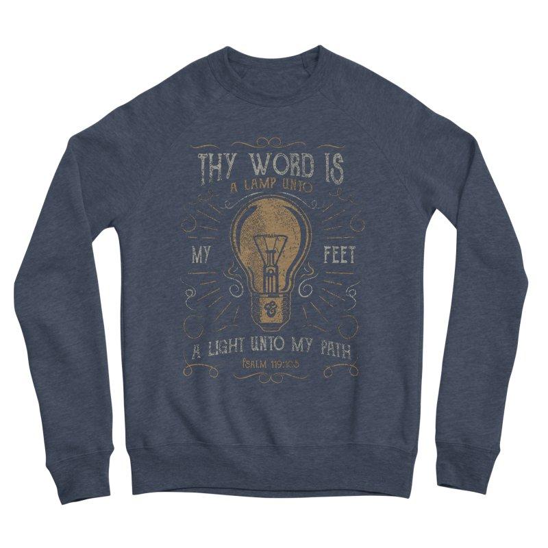 Psalm 119:105 Thy Word is a Lamp Unto My Feet Men's Sponge Fleece Sweatshirt by A Worthy Manner Goods & Clothing