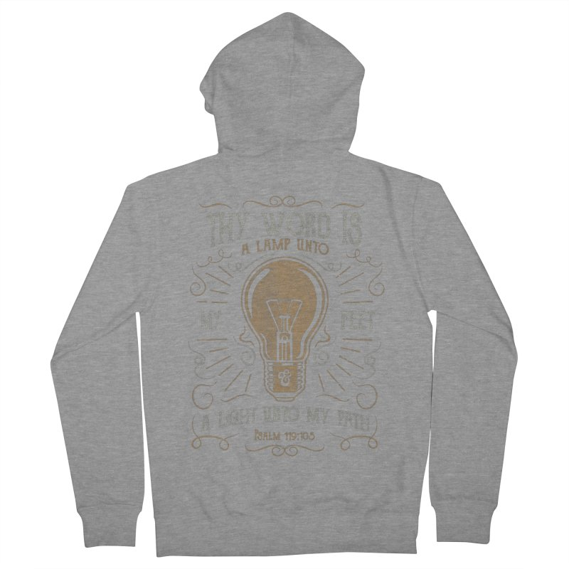 Psalm 119:105 Thy Word is a Lamp Unto My Feet Women's French Terry Zip-Up Hoody by Reformed Christian Goods & Clothing