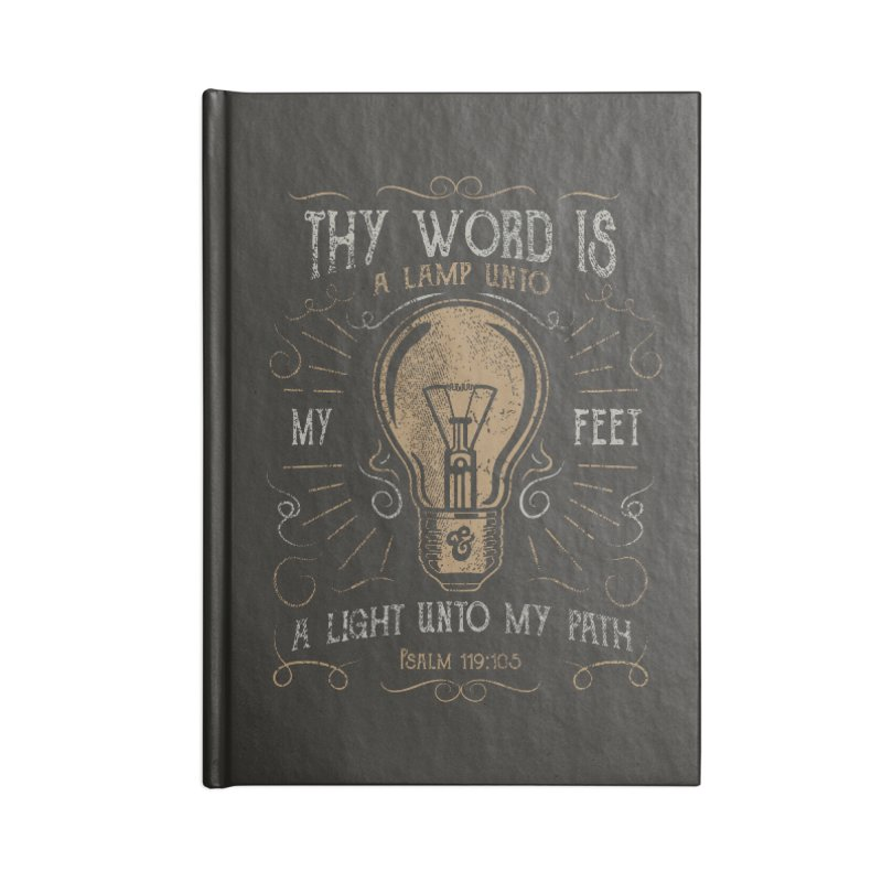 Psalm 119:105 Thy Word is a Lamp Unto My Feet Accessories Lined Journal Notebook by A Worthy Manner Goods & Clothing