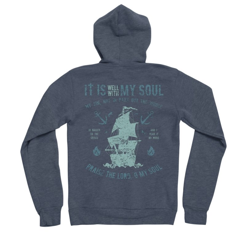 It Is Well With My Soul Men's Sponge Fleece Zip-Up Hoody by A Worthy Manner Goods & Clothing