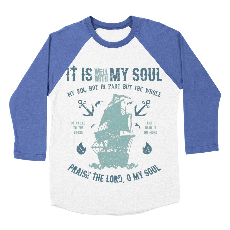 It Is Well With My Soul Men's Baseball Triblend Longsleeve T-Shirt by A Worthy Manner Goods & Clothing
