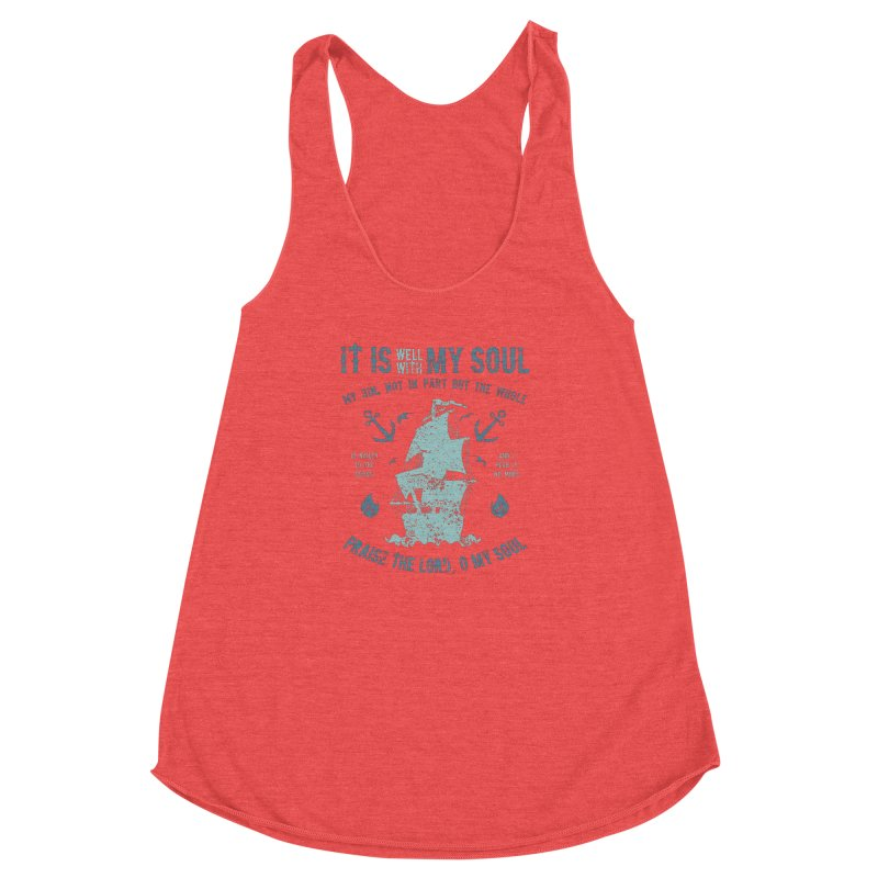 It Is Well With My Soul Women's Racerback Triblend Tank by A Worthy Manner Goods & Clothing