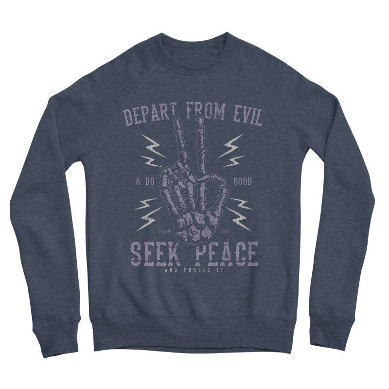 Depart from Evil | Psalm 34:14 Women's Sponge Fleece Sweatshirt by A Worthy Manner Goods & Clothing