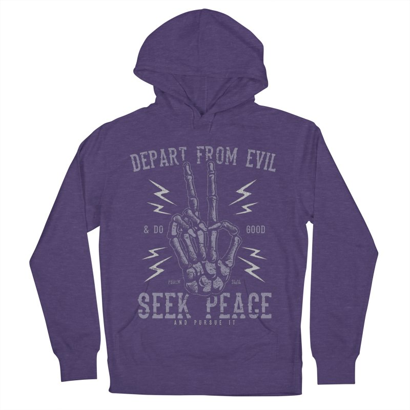 Depart from Evil | Psalm 34:14 Women's French Terry Pullover Hoody by A Worthy Manner Goods & Clothing