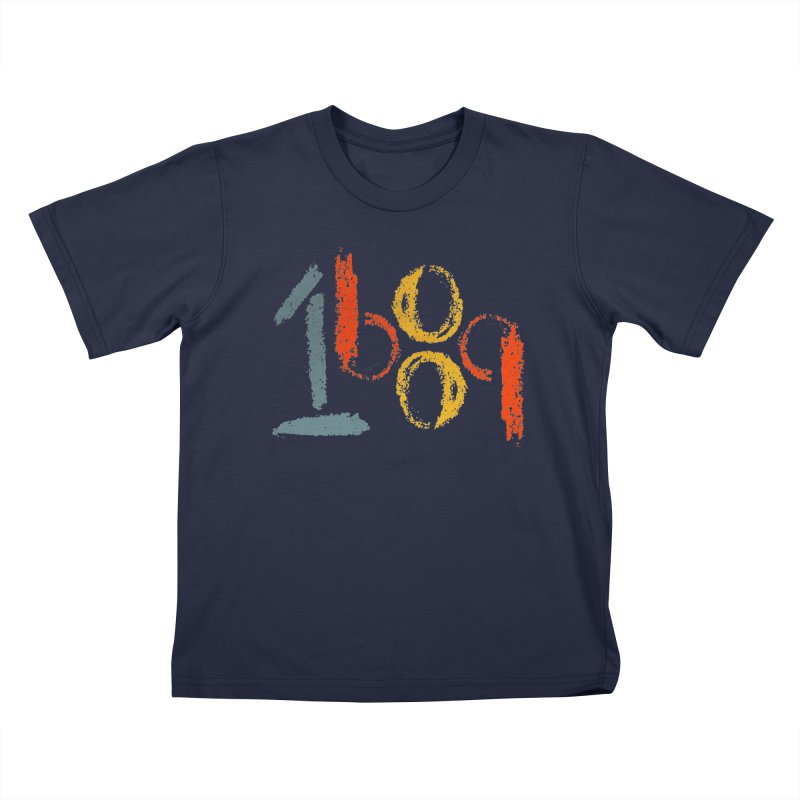 Retro 1689 in Kids T-shirt Navy by Reformed Christian Goods & Clothing